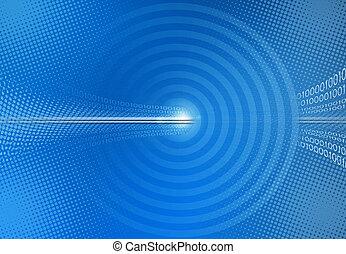 藍色, 二進制, 摘要, 代碼, 背景