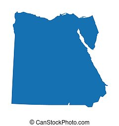 藍色, 地圖, 埃及