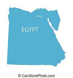藍色, 埃及, 地圖