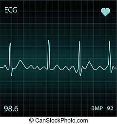 藍色, 心監視器