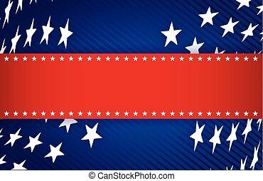 藍色, 愛國, 白色, 插圖, 紅色