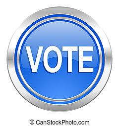 藍色, 投票, 圖象, 按鈕
