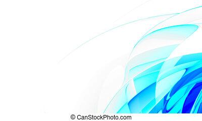 藍色, 摘要, 光滑