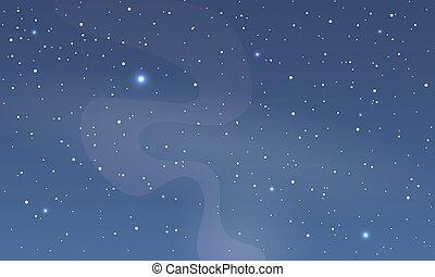 藍色, 摘要, 天空, 煙, 夜晚