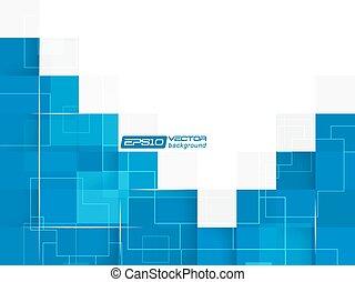 藍色, 摘要, 廣場, 背景