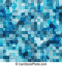 藍色, 摘要, 廣場, grunge, seamless
