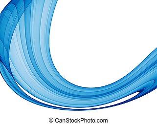 藍色, 摘要, 波浪