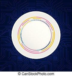 藍色, 摘要, 灰色, 矢量, 背景, 環繞, 技術, 圖像