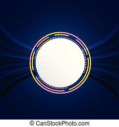 藍色, 摘要, 白色, 矢量, 背景, 環繞, 技術, 圖像