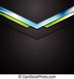 藍色, 摘要, 箭, 綠色的背景, 技術
