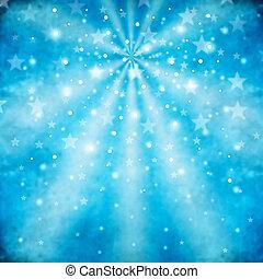 藍色, 摘要, 背景, 星