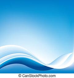 藍色, 摘要, 背景, 波浪