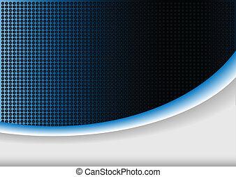 藍色, 摘要, 背景, 發光