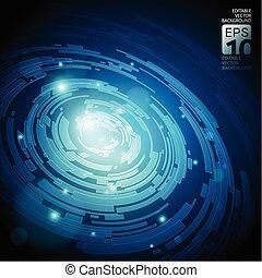 藍色, 摘要, 黑暗, 矢量, 背景, 技術