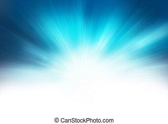 藍色, 摘要, starburst, 背景