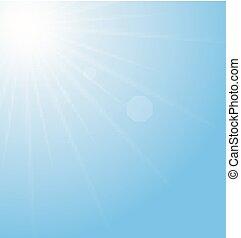 藍色, 摘要, sunburst, 背景