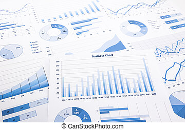 藍色, 文書工作, 事務, 圖表, 圖, 報告