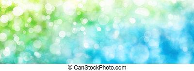 藍色, 格式, 關鍵的部分, 綠色, defocused, 全景