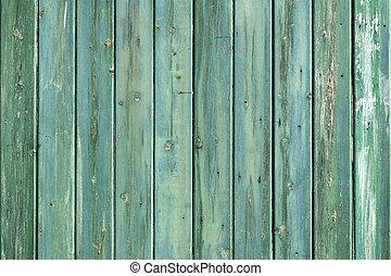 藍色, 棚子, 木 牆壁, consisiting, 綠色, 板條