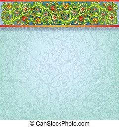 藍色, 植物, 摘要, 裝飾品, 背景