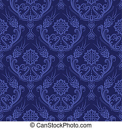 藍色, 植物, 牆紙, 豪華, 緞子
