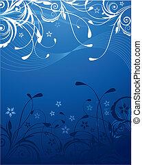 藍色, 植物, 背景