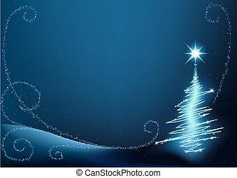 藍色, 樹, 聖誕節