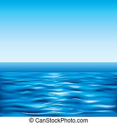 藍色, 清楚的天空, 海