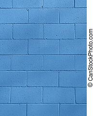 藍色, 爐渣塊, ba, 牆