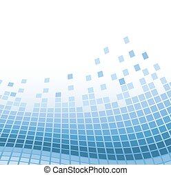 藍色, 矢量, 摘要, 插圖, particles., 波狀, 背景, 馬賽克