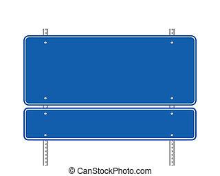 藍色, 空白, 路標