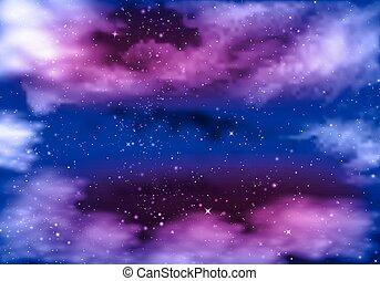 藍色, 紫羅蘭色的天空, 夜晚