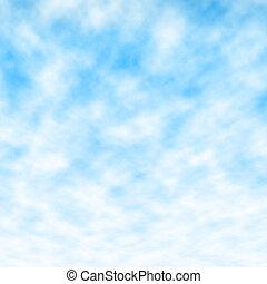 藍色, 絨毛狀, 天空