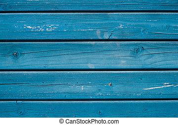 藍色, 繪, -, 木制, 木頭, 背景, 板條