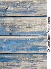 藍色, 繪, 老, 板條