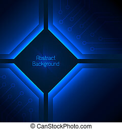 藍色, 背景。, 摘要, 深