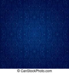 藍色, 葡萄酒, 植物, seamless, 圖案