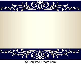 藍色, 葡萄酒, 紙卷, 淺褐色的背景, 銀