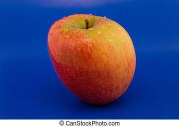 藍色, 蘋果, 背景