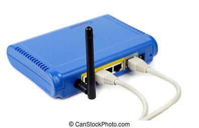 藍色, 路由器, 連線