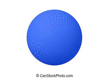 藍色, 躲閃, 球