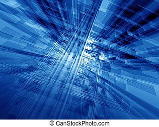 藍色, 電腦空間
