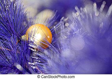 藍色, 顏色, 球, 樹, 聖誕節