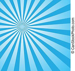 藍色, 風格, sunburst, retro