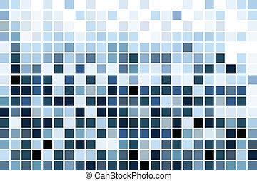 藍色, 馬賽克, 牆紙