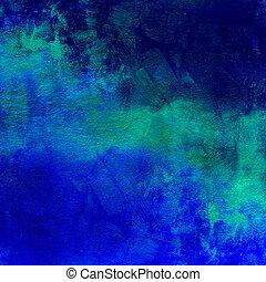 藍色, 黑暗, 摘要, 困厄, 背景