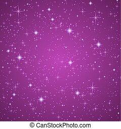 藍色, 黑暗, 星, sky., 閃爍, 夜晚