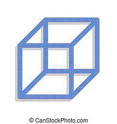 藍色, 點, 立方, cyclamen, 氖, 徵候。, 波爾卡舞, 被給打電報, vector., 圖象