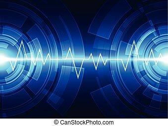 藍色, illustration., 摘要, 背景。, 矢量, 技術