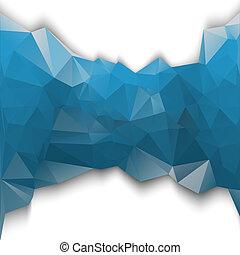 藍色, poligonal